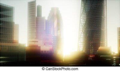 londres, coucher soleil