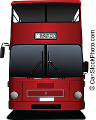 londres, decker, doble, rojo, bus., vec
