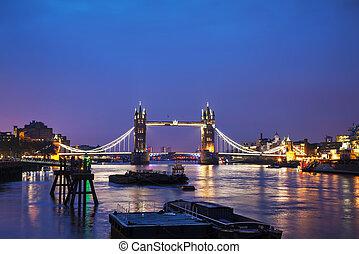 londres, puente, gran bretaña, torre