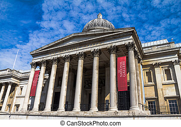 londres, royaume-uni, trafalgar carré, galerie nationale