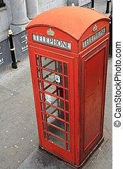 londres, telefone, vermelho, barraca