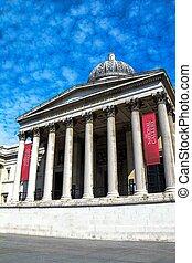 londres, trafalgar, touristes, galerie, carrée, non identifié, national, royaume-uni