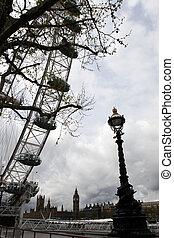 londyn, lamposts, 2