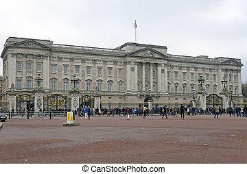 londyn, -, listopad, 28:, pałac buckinghama, londyn, anglia,...