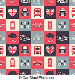londyn, seamless, tło