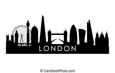 londyn, sylwetka na tle nieba, silhouette.