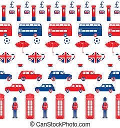 londyn, wektor, -, symbolika, próbka