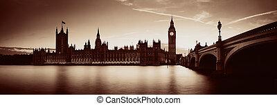 londyn, zmierzch