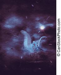 Lone Angel in the Dark