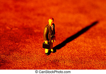 Lone Businessman - Miniature Businessman