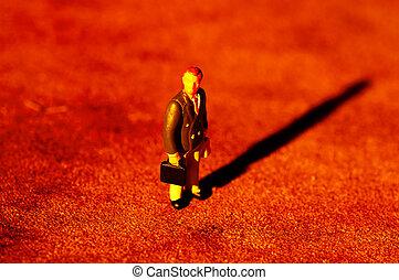 Lone Businessman - Miniature Businessman