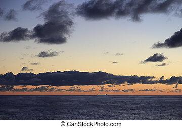 Lone Oil Tanker on the horizon