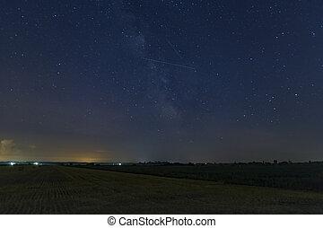 Lone Perseid Meteor - A lone Perseid Meteor streaks in the ...