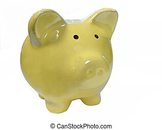 Lone Piggy Bank - one piggy bank looking right