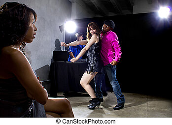 Lonely at Nightclub - single black woman jealous of...