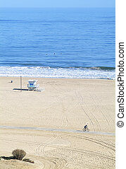 Lonely beach in Los Angeles