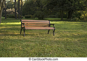 Lonely bench in the Park.