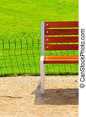 lonely bench in the park