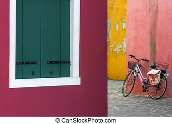 Lonely bicycle in Venice