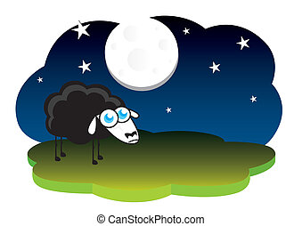 Lonely black sheep