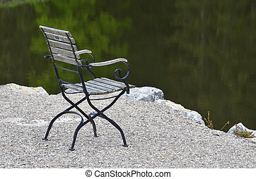 lonely chair at waterfront