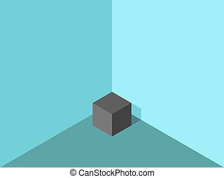 Lonely cube in corner