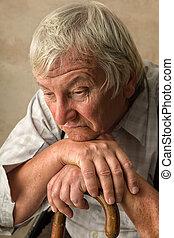 Lonely elderly man