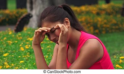 Lonely Female Teen Crying