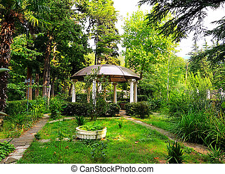 Lonely gazebo in park