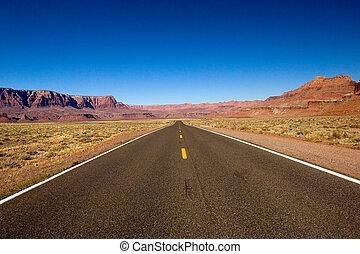 Lonely road - Empty Arizona highway