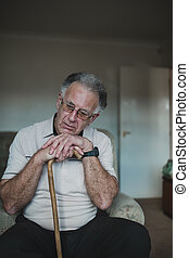 Lonely Senior Man at Home