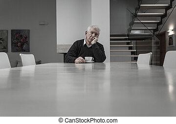 Lonely senior man
