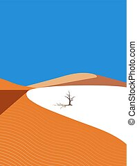 Lonely tree in the desert.eps