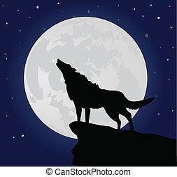 Lonely wolf - activity background bush canines conceptual...