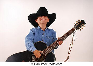 Lonesome Cowboy 14 - Young boy playing guitar