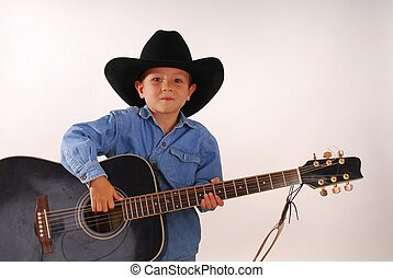 Lonesome Cowboy 7 - Young boy playing guitar