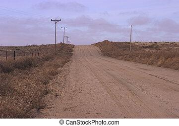 Lonesome road - Dirt road in rural Kansas