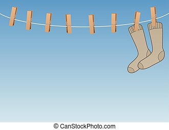 Lonesome Single Symbol Socks On Clothes Line - Lonesome...