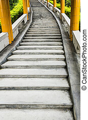 Long abstract staircase.