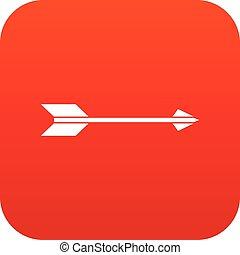 Long arrow icon digital red