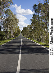 long asphalt road