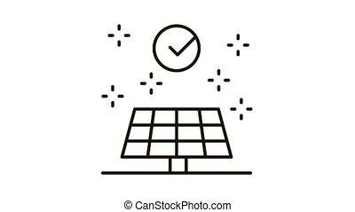 long battery life Icon Animation. black long battery life animated icon on white background