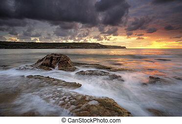 Long Bay Malabar sunrise