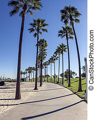 Long Beach, CA - Picture shows the city Long Beach in...