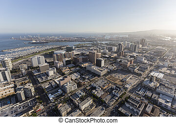 Long Beach California Aerial View