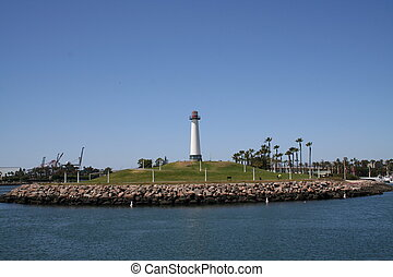 Long Beach California Lighthouse Horizontal View -...