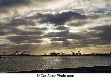 Long Beach California - Long Beach in California with...