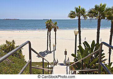 Long Beach california ocean view.