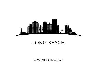 Long Beach city skyline.
