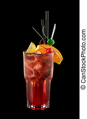Long Beach Cocktail on a black background